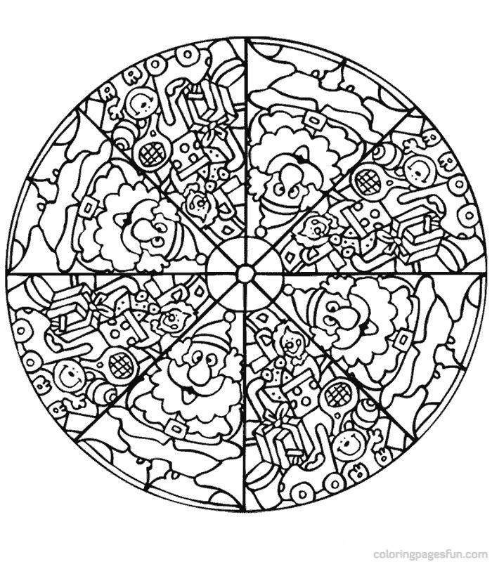 mandala coloring pages free coloring pages 23 free printable - Christmas Mandalas Coloring Book