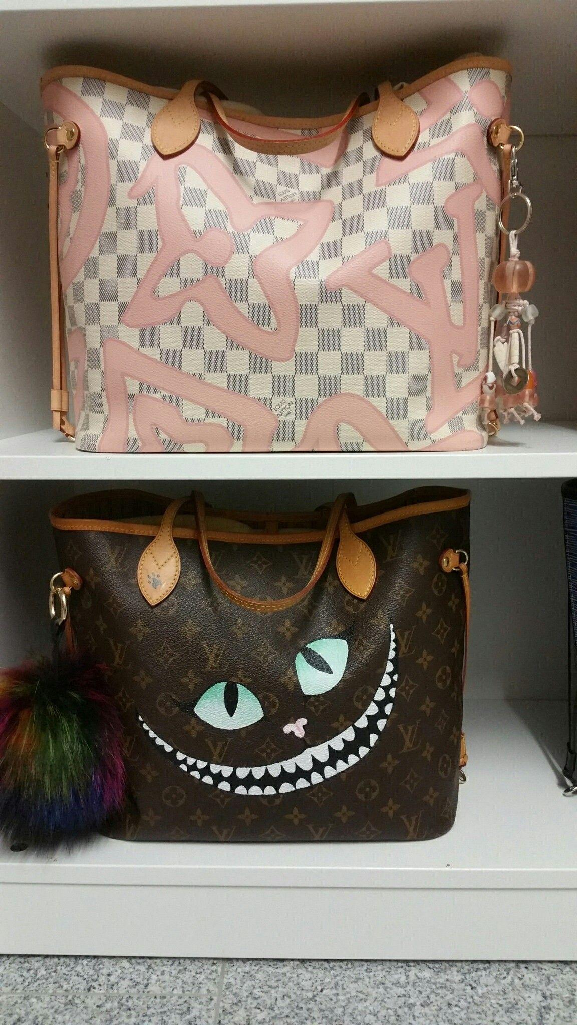 Louis Vuitton Neverfull Tahitienne & custom made Cheshire