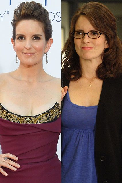Liz Lemon would never dream of wearing the daring Vivienne Westwood dress that Tina Fey chose for her Emmy arrival.
