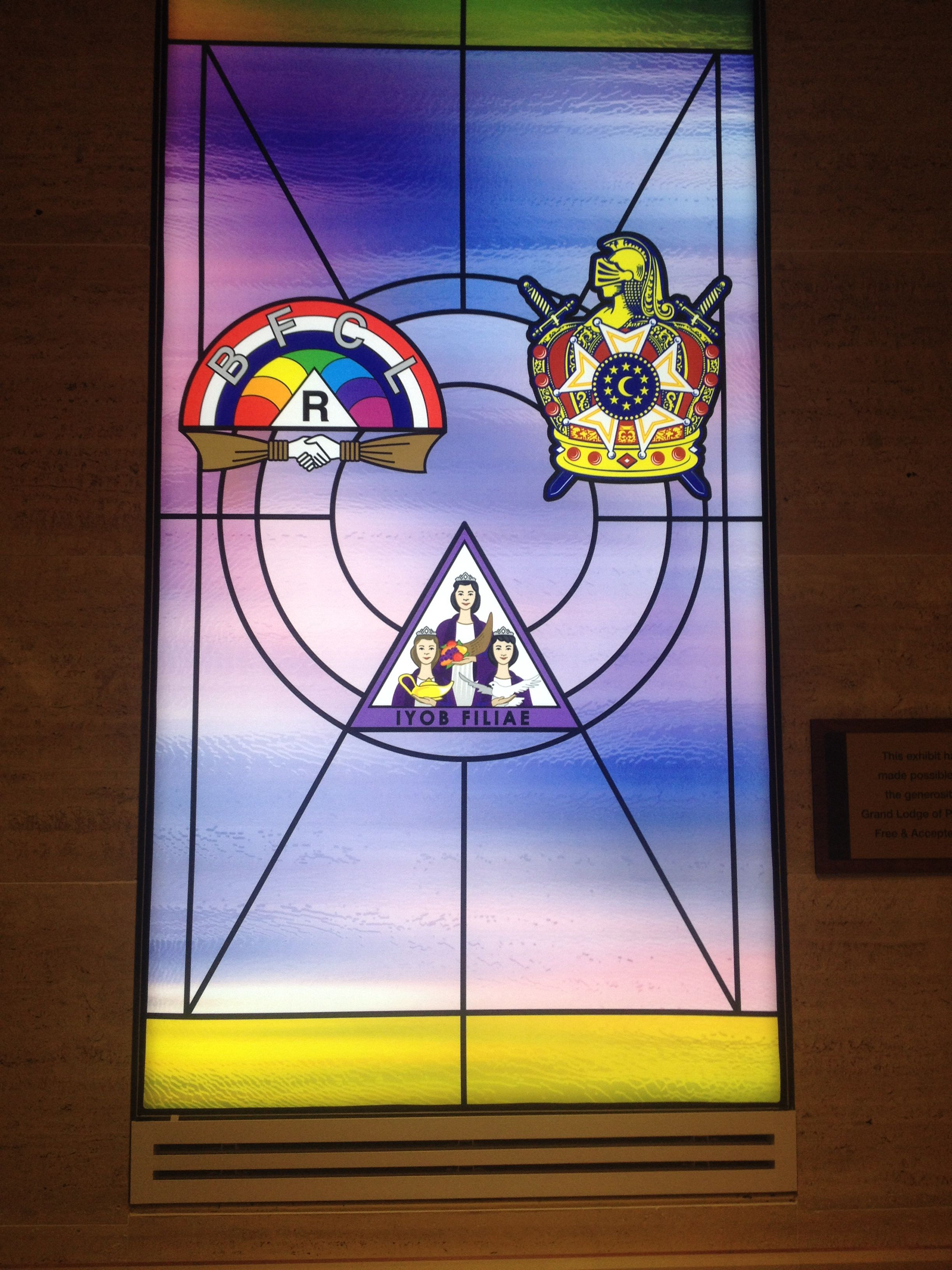 Masonic Youth Stained Glad Window At The George Washington