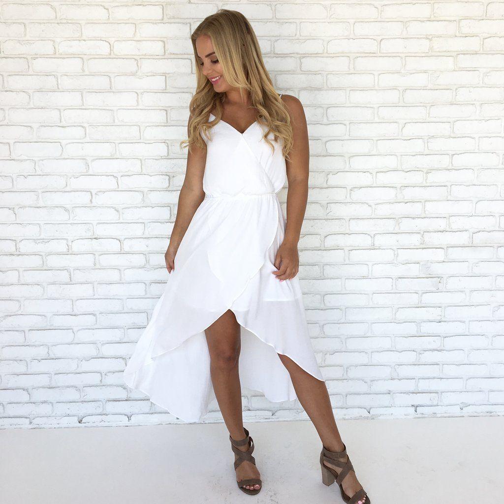 Sway My Way Hi Low Tulip Dress In White White Dress Dresses Unique Maxi Dresses [ 1024 x 1024 Pixel ]