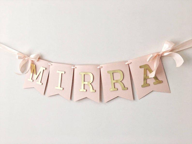 Personalized Baby Birthday- Custom Name Banner Baby Boy Nursery Decor 1st birthday decor Personalized Baby Gift Baby Shower Banner