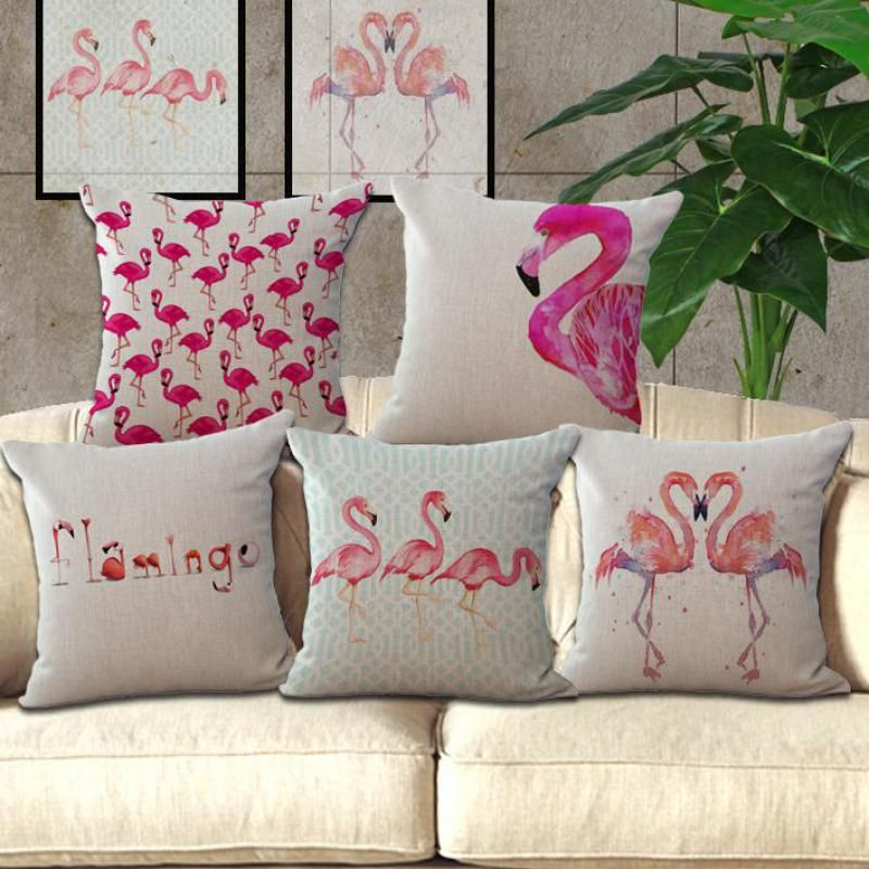Flamingo Cotton Furnishing Cushion Cute Home Pillow Living Room Magnificent Cute Cheap Decorative Pillows