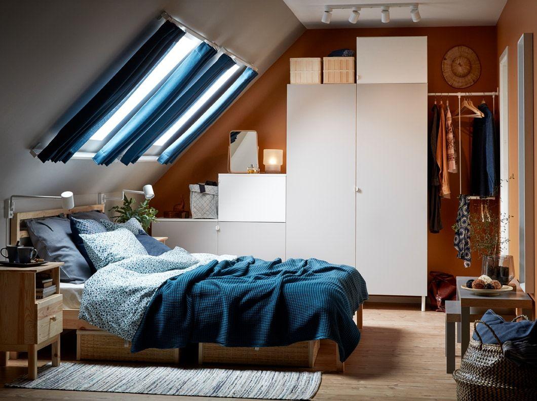 Frische Einrichtungsideen Und Erschwingliche Möbel Zimmer Schlafzimmer Dachschräge Wohnung Einrichten