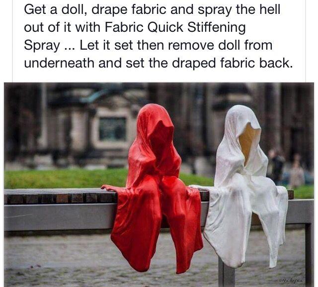 How to make ghost shroud halloween Pinterest - creepy halloween decor