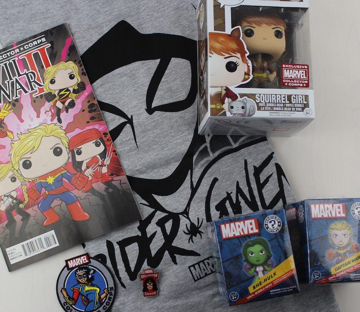 Marvel Collector Corps Subscription Box Review June 2016 - all items
