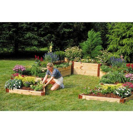 Create Your Own Raised Garden Bed Design With Stackable Corner Joints Amazon Com Raised Garden Garden Beds Raised Garden Beds