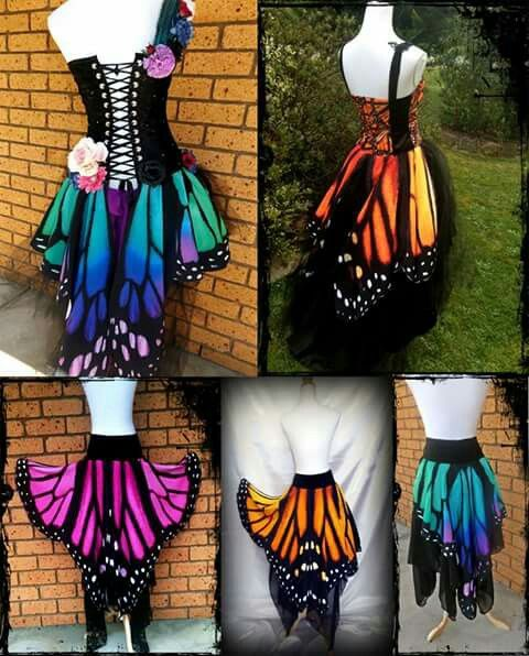 d6c4d786a596 Butterfly Skirts. Lady ...