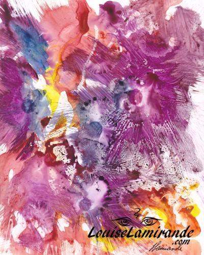 Aquarelles Vernies Sur Papier Yupo Peinture Fleurs Aquarelle