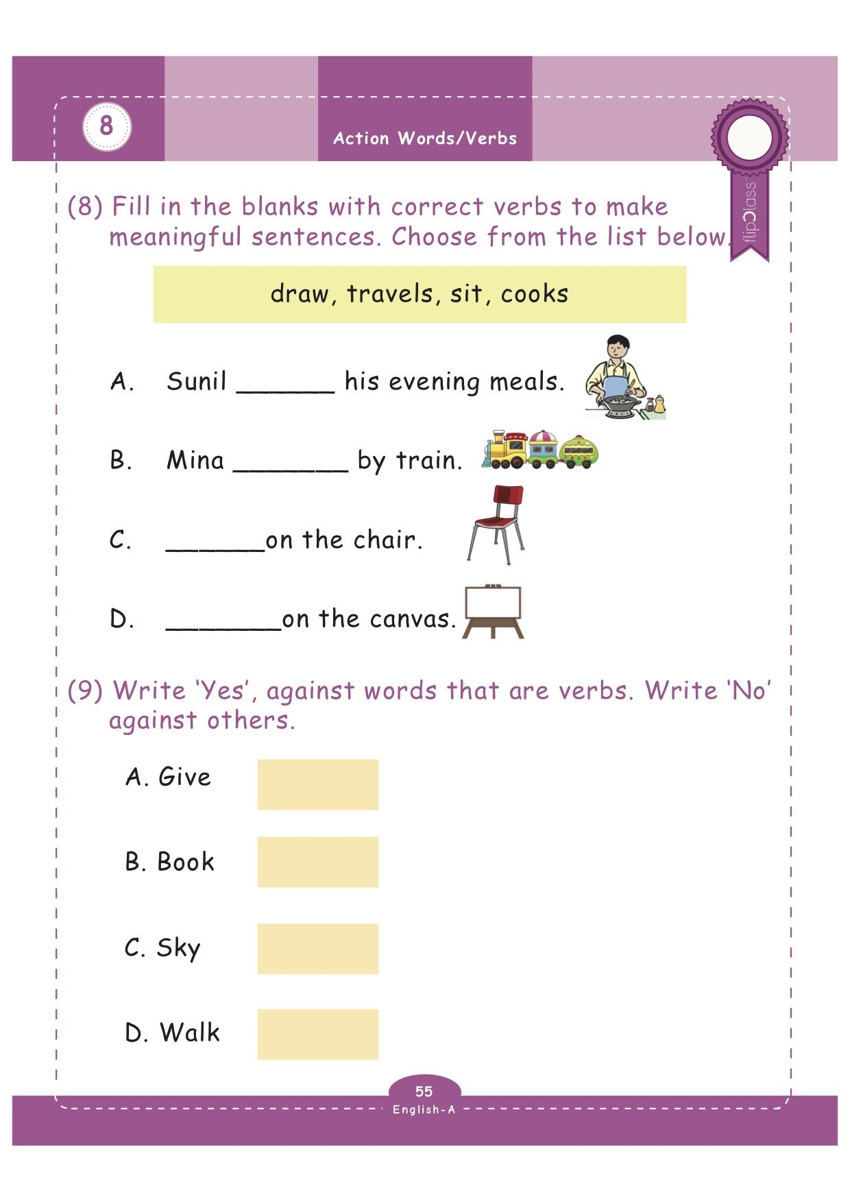 - Worksheets For Grade-1: FlipClass Genius Kids: These Colourful And