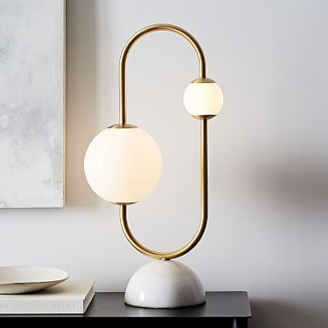 Framed Sphere Led Table Lamp Modern Table Lamp Lamp Decor Modern Lamp