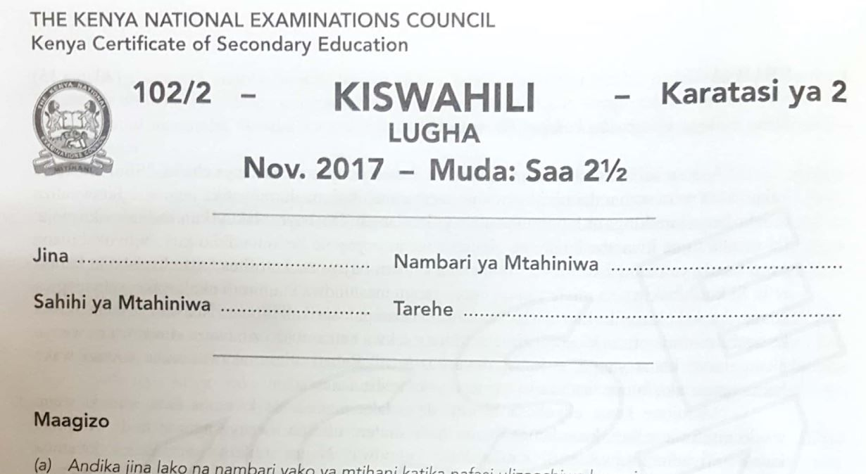 How to pass Kiswahili KCSE Exams and pdf Past Papers