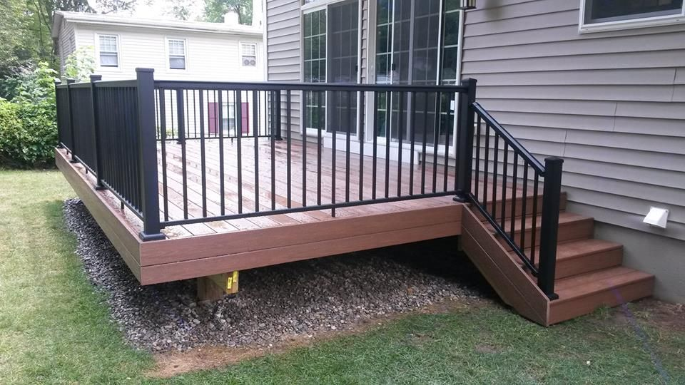 Best Pvc Decking With Afco Blacked Tex Powder Coated Aluminum Railing Porch Railing Designs Patio 640 x 480