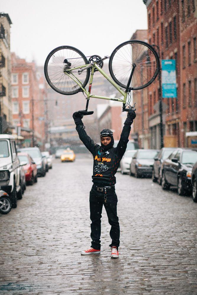 Alex Rides A Mercier Galaxy Photographed On Beekman St Manhattan