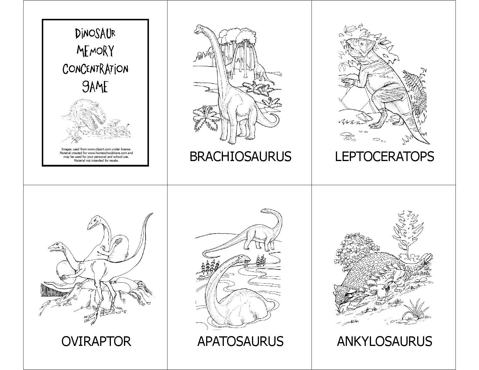 Free Creation Based Dinosaur Unit Study