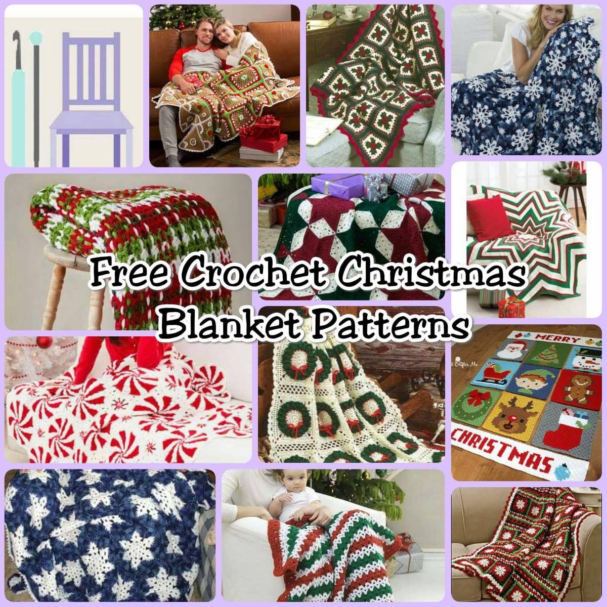 Free Christmas Blanket Crochet Patterns Crochet Pinterest