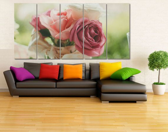 High Quality Large Roses Bouquet Photo Canvas Print  от GiftVilage