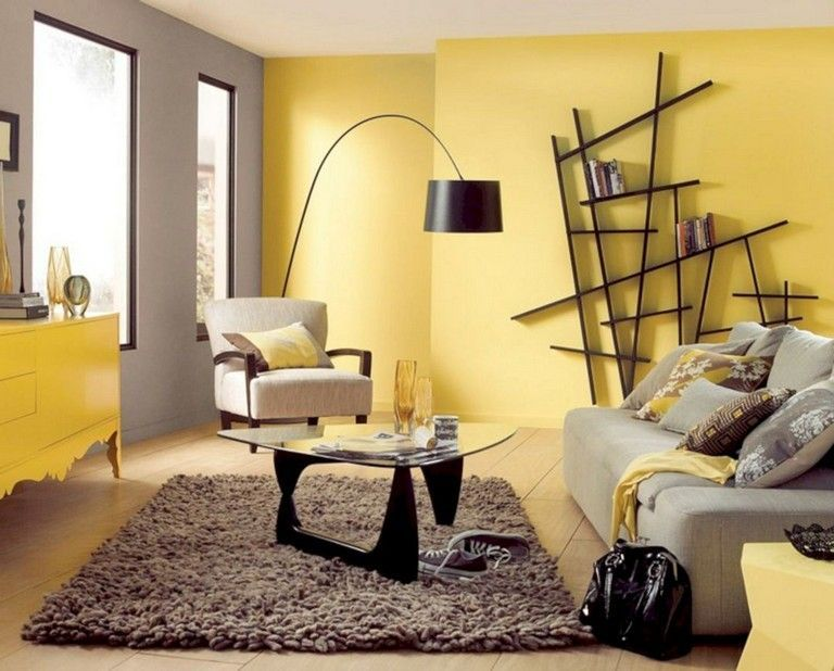 living room yellow modern  highest 20 yellow color