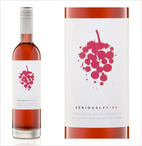 Seriously Pink bottle label design | Wings - Inspiration ...