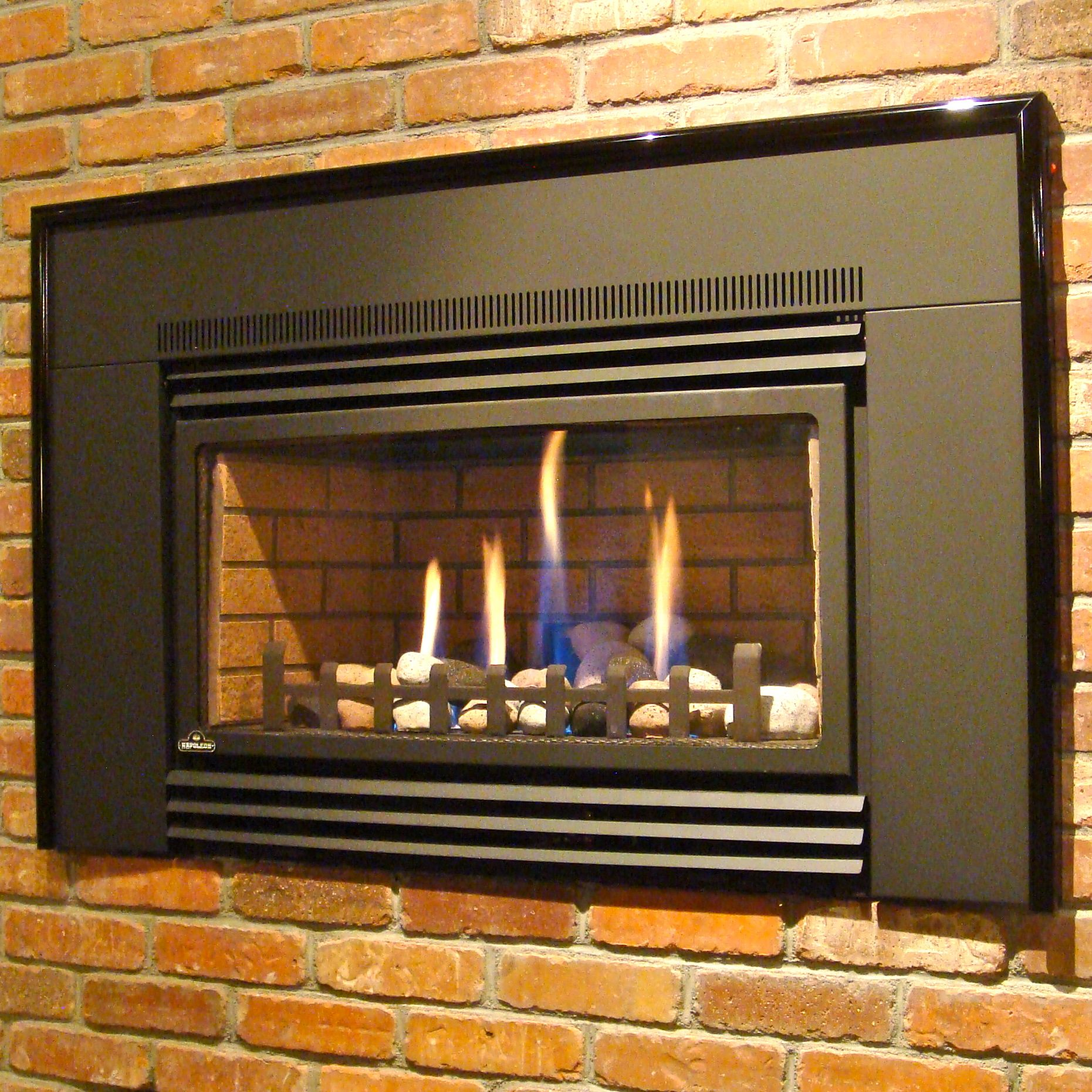 Napoleon Gdi30 With Rock Burner Option Propane Fireplace