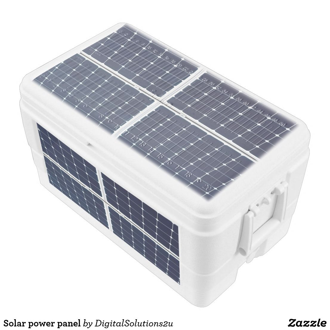 Solar power panel ice chest