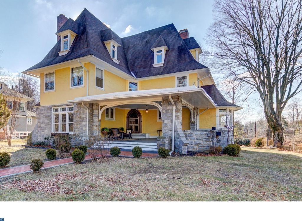 Pennsylvania craftsman designed by george  maher features soaring ft ceilings stunning millwork unique custom built ins four fireplaces also for sale in old rh pinterest