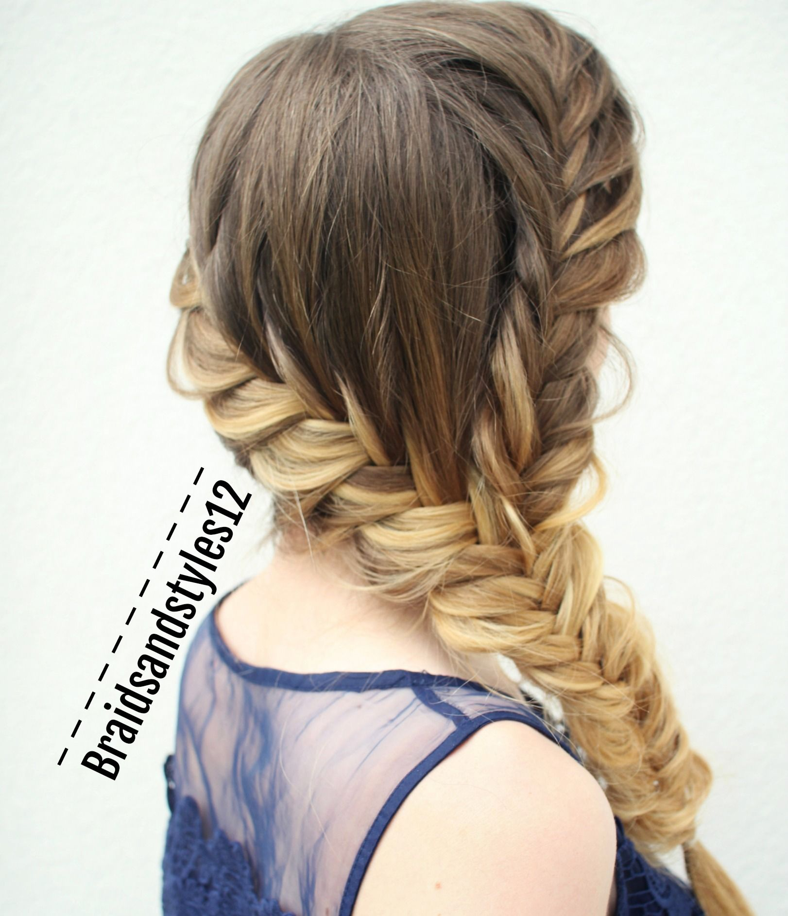 Diy French Fishtail Style By Braidsandstyles12 Fishtail Braids Hair Hairstyles Beauty Style Braids Hair Braid Diy Braided Hairstyles Medium Hair Styles