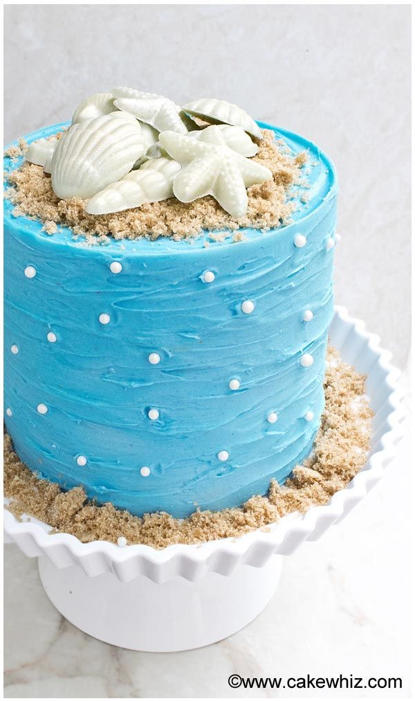 Easy Beach Cake Cakewhiz In 2019 Cake Decorating For
