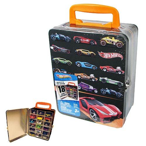Hot Wheels 18 Car Vintage Tin Carry Case Neat Oh Hot Wheels