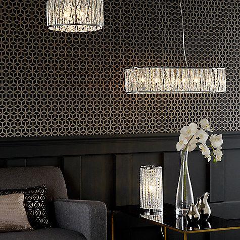 Rectangular sparkly chandeliere lighting pinterest john lewis drums and lighting online