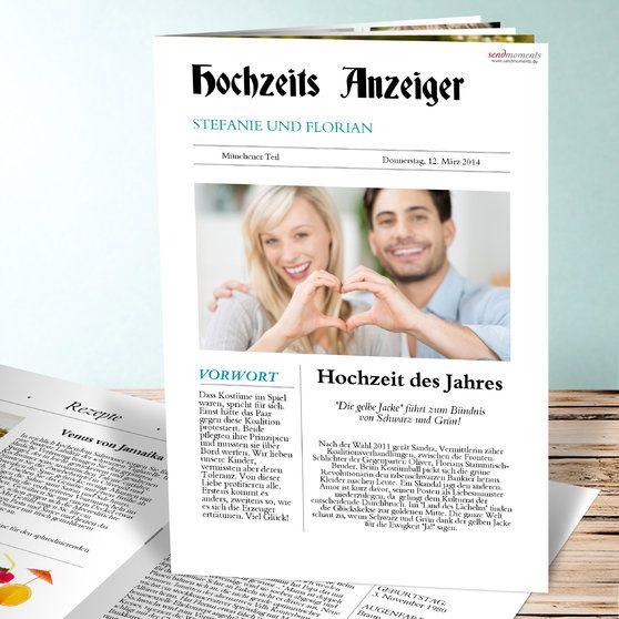 Hochzeitszeitung zeitung hochzeitszeitung pinterest for Hochzeitszeitung online gestalten