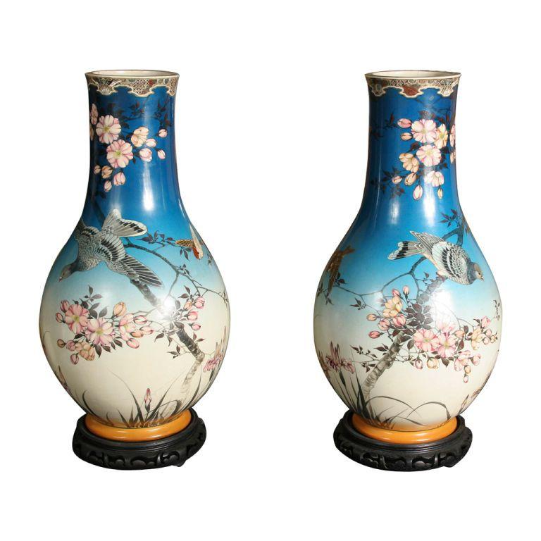 1stdibs | Pair of Large Satsuma Vases