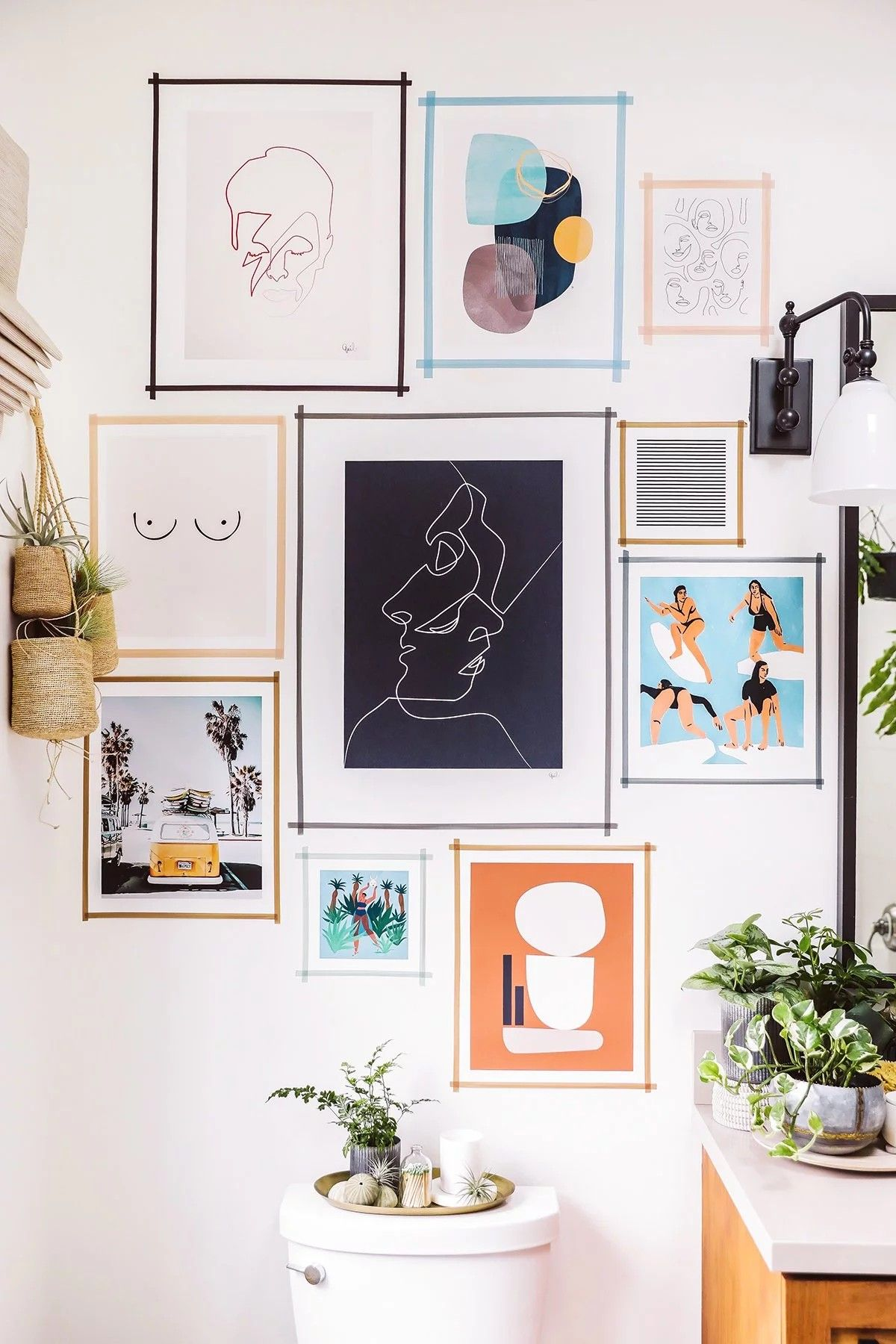 This Washi Tape Gallery Wall Is Beautiful Decor Gallery Wall Room Decor