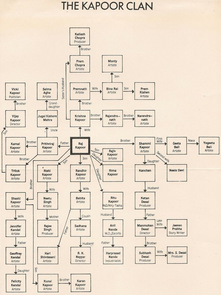 Kapoor Clan Flow Chart Is Everyone In Bollywood Related To Else