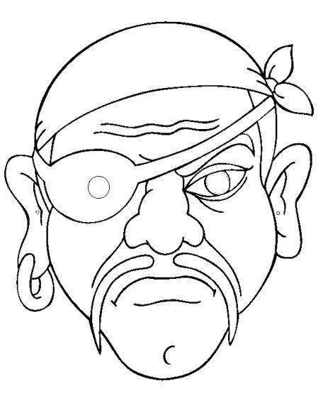 Kleurplaten Halloween Maskers.Masker Piraat Printables Mascaras De Carnaval Desenhos De