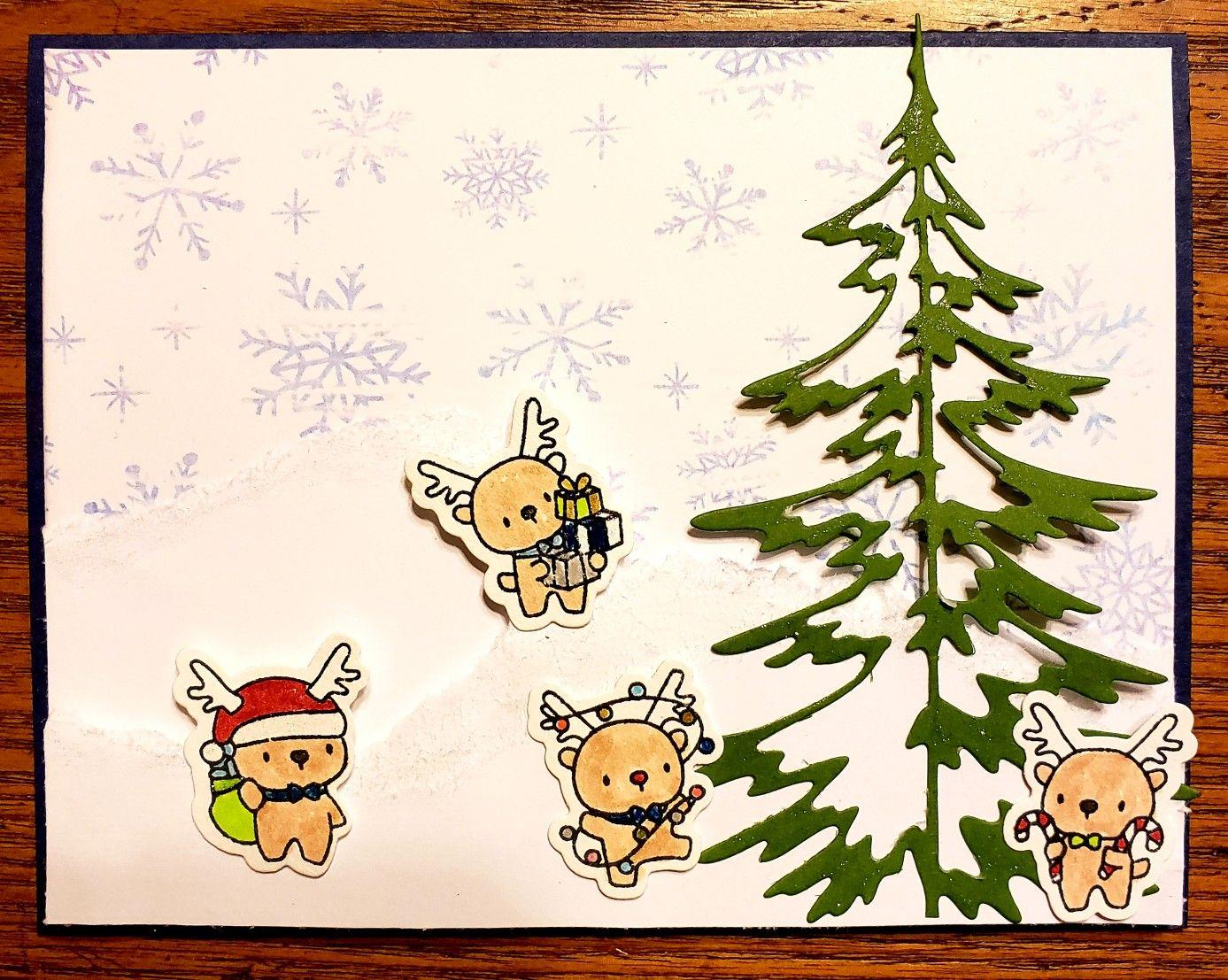mama elephant reindeer  christmas cards mama elephant