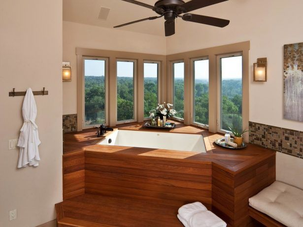 30 Beautiful and Relaxing Bathroom Design Ideas Inset Tub