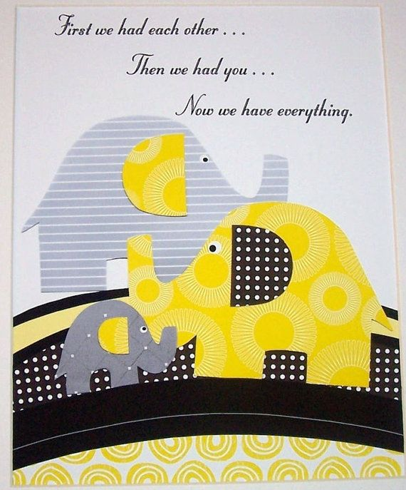 Cute Elephant Art With Kids Quotes