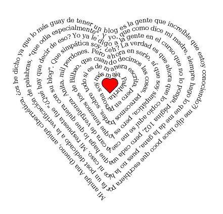 Personalización de Blogs, texto en forma de corazón, dibujo para ...