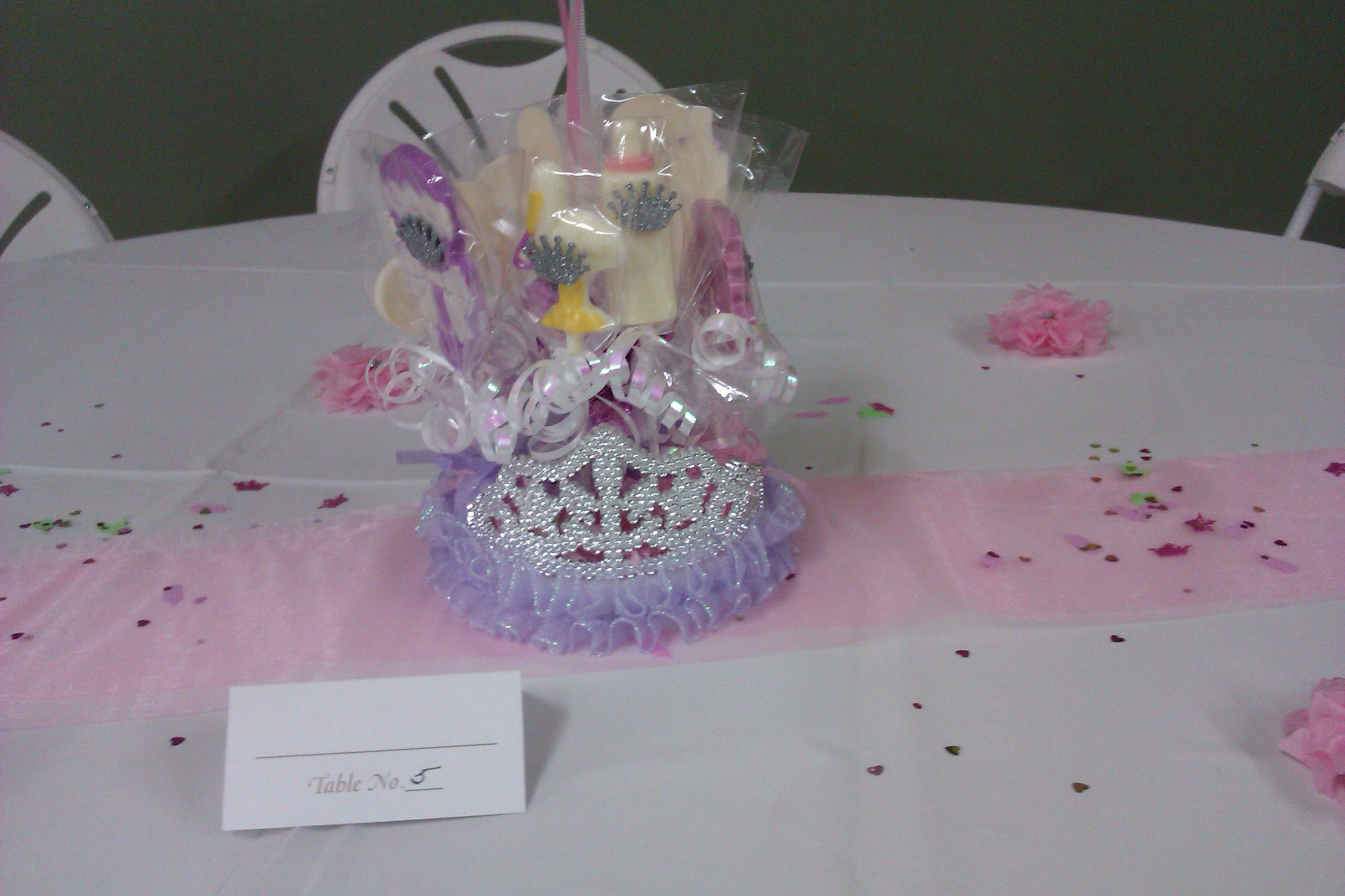princess baby shower lollipop centerpieces