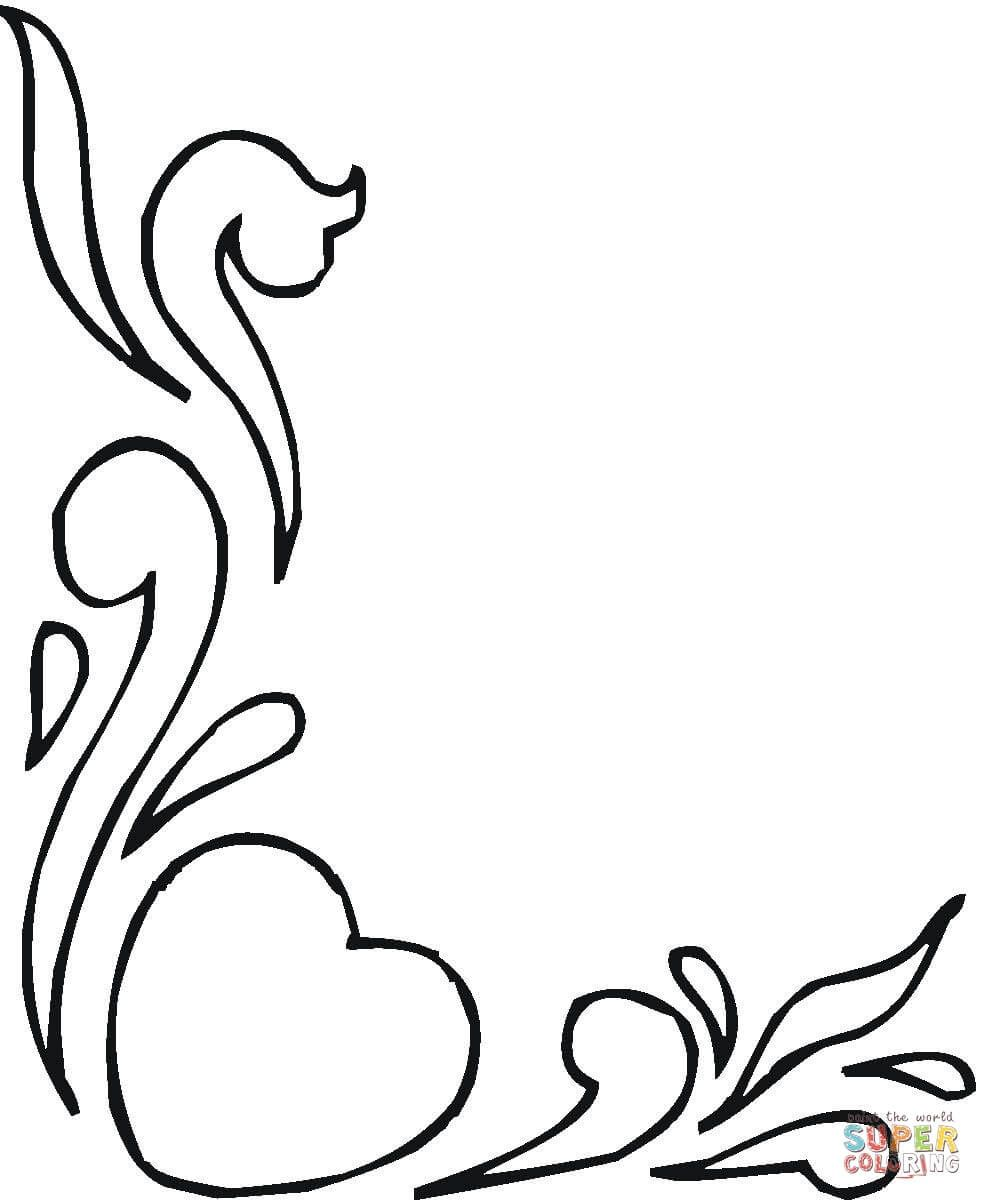 Hearts And Flowers Coloring Page 982x1200