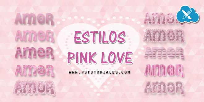 Estilos Pink Love para Photoshop   PS Tutoriales