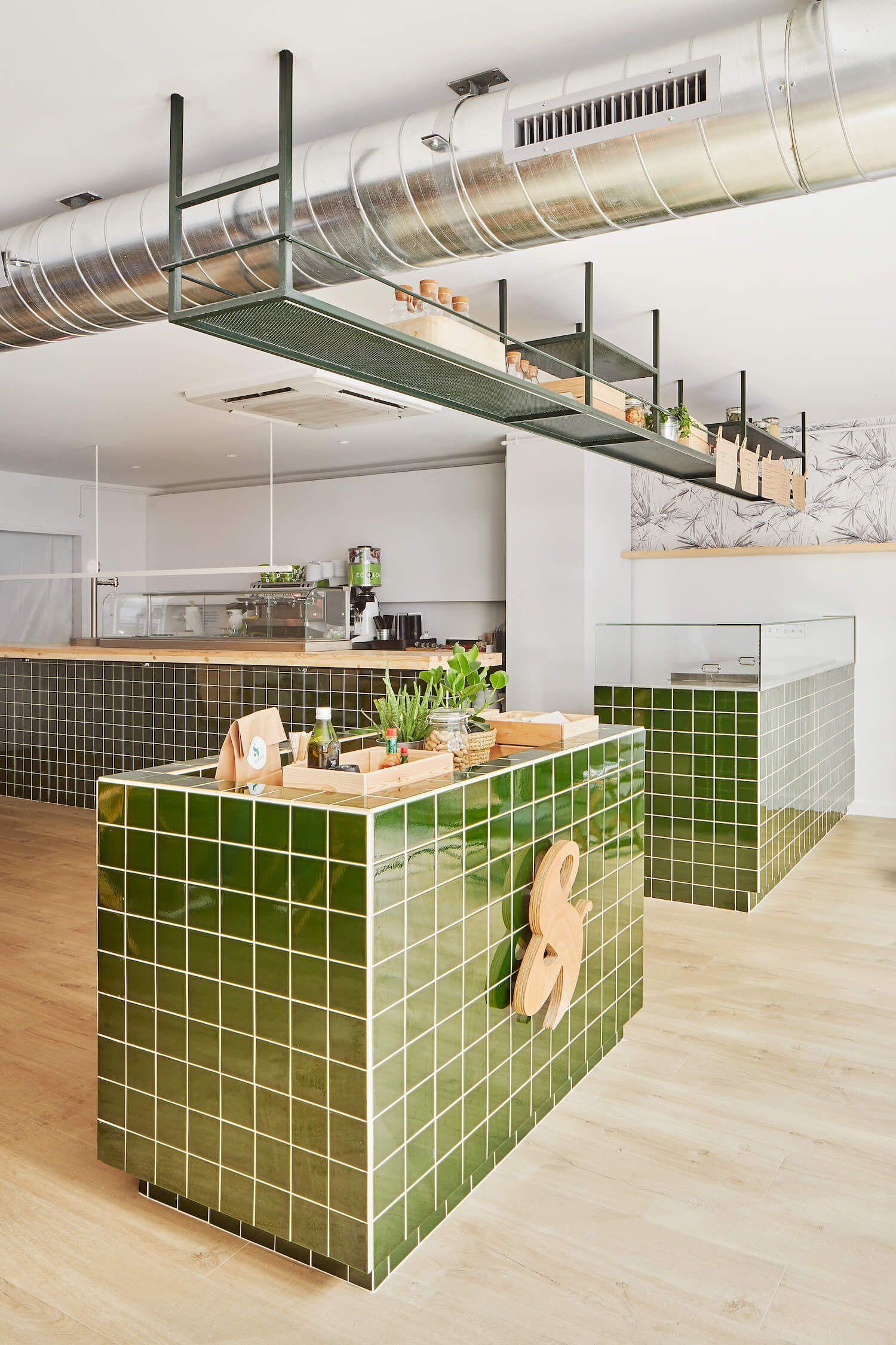 Verd Go Cafe By Scala Studio Restaurant Interior Design Counter