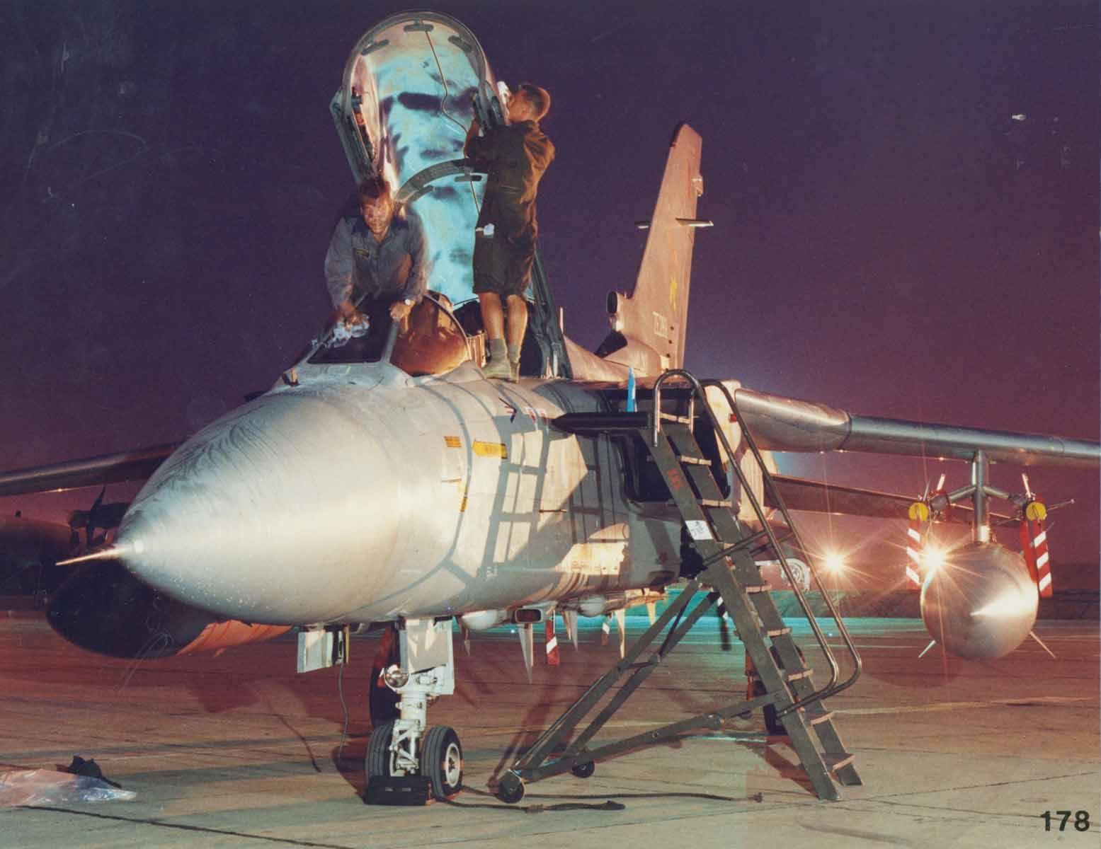A Panavia Tornado F3, ZE289, at RAF Akrotiri during