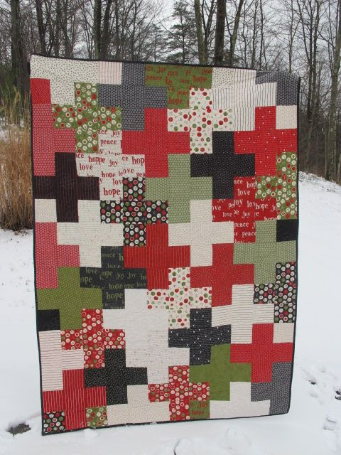 Sew Peachey - plus quilt made with charm packs