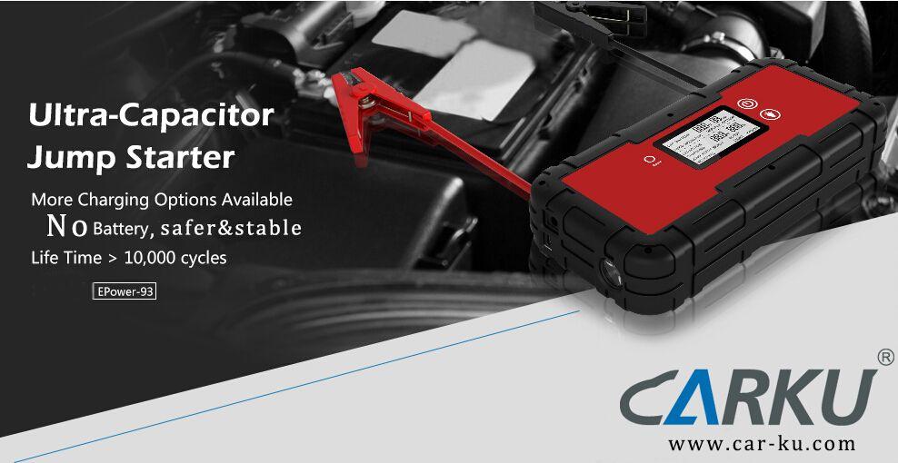 ultracapacitor jump starter is batteryless design   CARKU