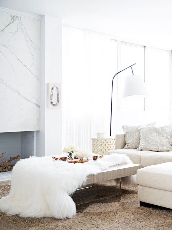 A Mostly White Morocco-Inspired Home Design | Simple living room ...