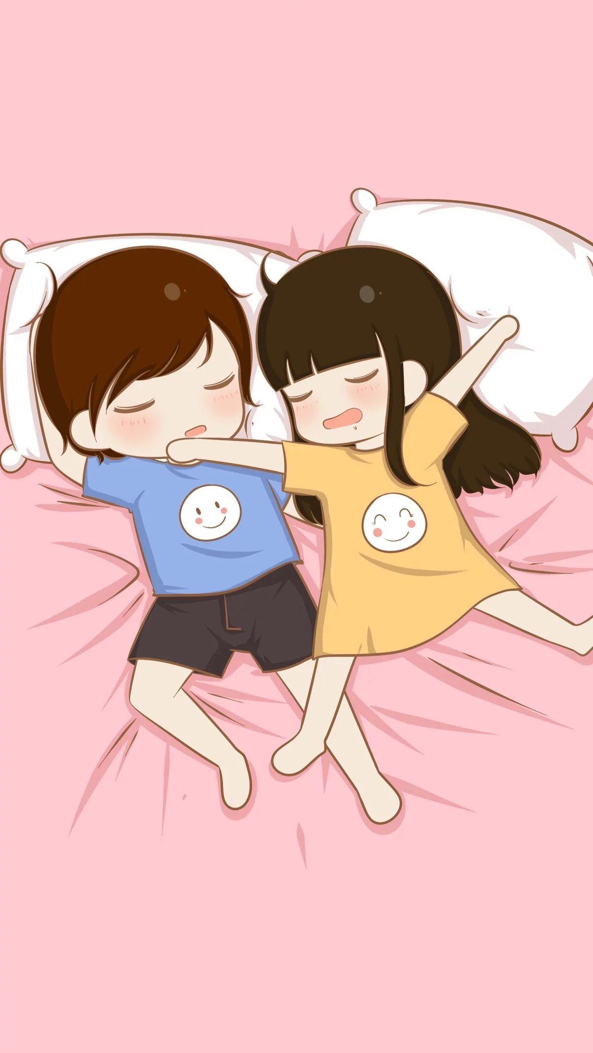 A Kawaii Wallper Cute Love Cartoons Love Cartoon Couple Cartoons Love