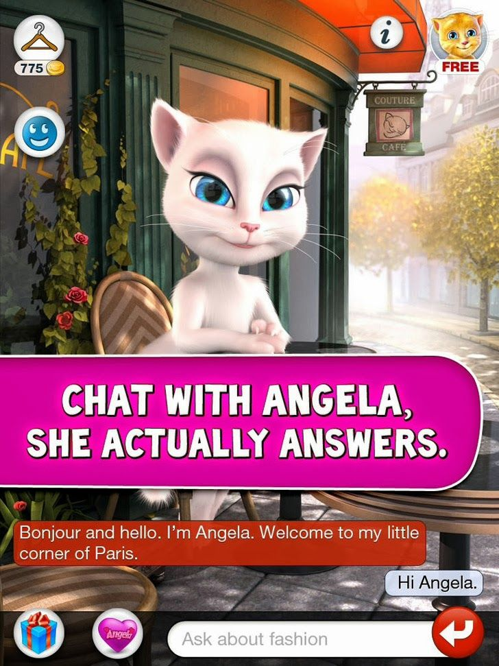 talking angela free download game