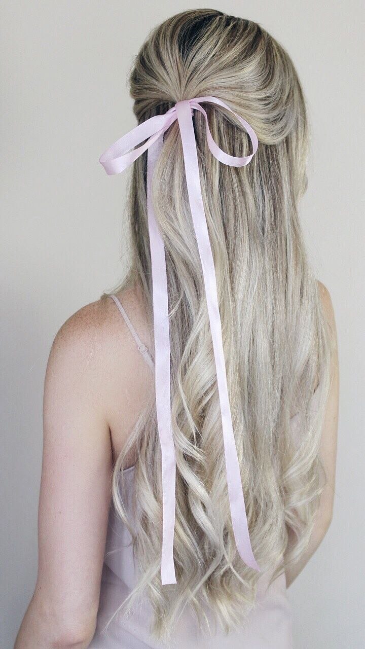 Simple Hairstyles Incorporating Bows Ribbon Alex Gaboury Bow Hairstyle Hair Styles Half Up Hair